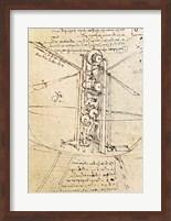 Vertically Standing Bird's-winged Flying Machine Fine Art Print