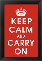 Keep Calm (Red) Fine Art Print