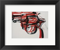 Gun, c. 1981-82 (black and red on white) Fine Art Print