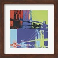 Brooklyn Bridge, 1983 (orange, blue, lime) Fine Art Print