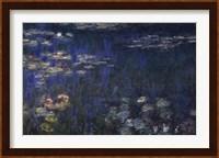 Waterlilies: Green Reflections I Fine Art Print