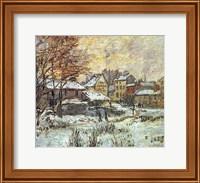 Snow Effect, Sunset Fine Art Print
