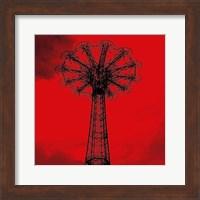Red Parachute Jump Fine Art Print