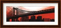 Manhattan Bridge Aura Fine Art Print