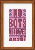 No Boys Allowed Fine Art Print