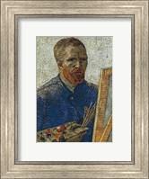 Self Portrait in Front of Easel Fine Art Print