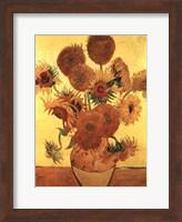 Sunflowers on Gold, 1888 Fine Art Print