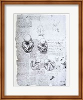 Five Views of a Fetus in the Womb Fine Art Print