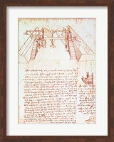 Pulley System for the Construction of a Staircase Fine Art Print