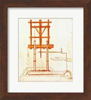 Hydraulic Water Pump for a Fountain Fine Art Print