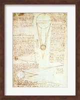 Studies of the Illumination of the Moon 1r from Codex Leicester Fine Art Print