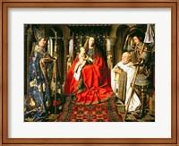 Madonna and Child with Canon Joris van der Paele, 1436 Fine Art Print
