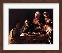 Supper at Emmaus, 1606 Fine Art Print