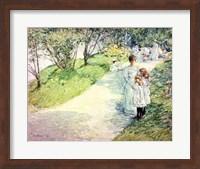 Promenaders in the garden, 1898 Fine Art Print