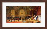 The Reception of Siamese Ambassadors by Emperor Napoleon III Fine Art Print