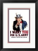 Uncle Sam  - I Want You Fine Art Print