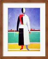Woman with a Rake Fine Art Print