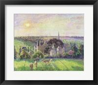 The Church and Farm of Eragny, 1895 Fine Art Print