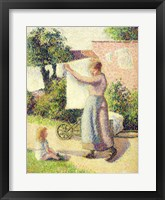 Woman Hanging up the Washing, 1887 Fine Art Print