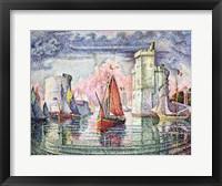 The Port at La Rochelle, 1921 Fine Art Print