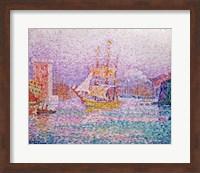 Harbour at Marseilles, c.1906 Fine Art Print