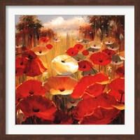 Meadow Poppies III Fine Art Print
