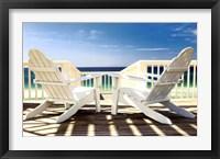 Deck Chairs Fine Art Print