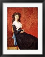 Portrait of Madame Charles-Louis Trudaine Fine Art Print