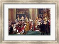 The Consecration of the Emperor Napoleon I Detail Fine Art Print