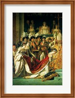 The Consecration of the Emperor Napoleon and the Coronation of the Empress Josephine, detail Fine Art Print