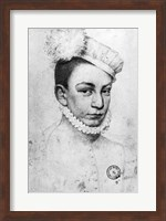 Portrait of King Charles IX of France, 1561 Fine Art Print