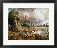 Salisbury Cathedral From the Meadows, 1831 Fine Art Print
