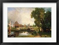 Dedham Lock and Mill, 1820 Fine Art Print