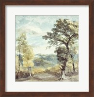 Landscape with Trees and a Distant Mansion Fine Art Print