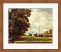 Salisbury Cathedral from Lower Marsh Close, 1820 Fine Art Print