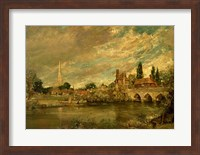 The Bridge of Harnham and Salisbury Cathedral Fine Art Print