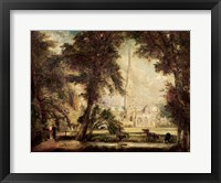 Salisbury Cathedral from the Bishop's Grounds, c.1822-23 Fine Art Print