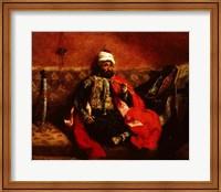 A Turk smoking sitting on a sofa, c.1825 Fine Art Print
