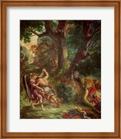 Fight between Jacob and the Angel Fine Art Print