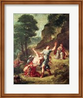 Orpheus and Eurydice, Spring from a series of the Four Seasons, 1862 Fine Art Print