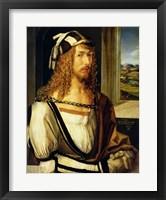 Self Portrait with Gloves, 1498 Fine Art Print