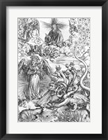 Scene from the Apocalypse, The woman clothed with the sun and the seven-headed dragon Fine Art Print
