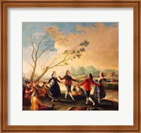 Dance on the Banks of the River Manzanares, 1777 Fine Art Print