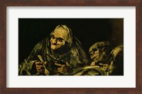 Two Old Men Eating, one of the 'Black Paintings' Fine Art Print