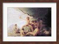 Cannibals Savouring Human Remains Fine Art Print