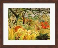 Tiger in a Tropical Storm Fine Art Print