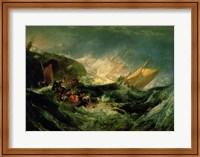 Wreck of a Transport Ship Fine Art Print