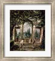 The Gardens of the Villa Medici in Rome Fine Art Print