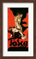 Poster advertising a performance of Tosca, 1899 Fine Art Print