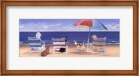 Beach Chair Tails I Fine Art Print